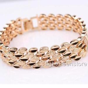 Bracelet 18K Yellow Gold Filled fashion vogue neuf
