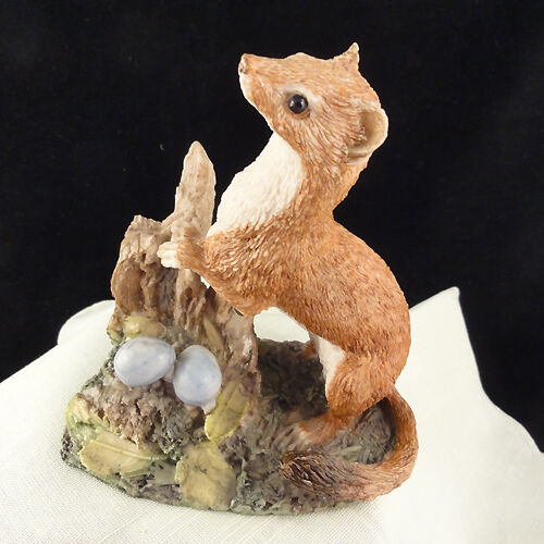"""FERRET figurine by Crown Staffordshire 4.5"""" NEW NEVER SOLD England Porcelain"""