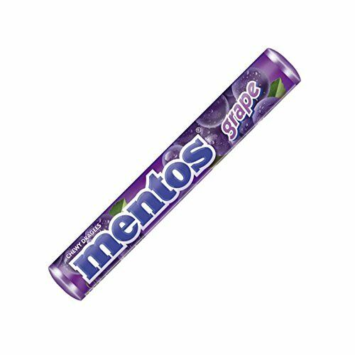 MENTOS Grape Flavor - 10 rolls x 37.5g From Europe