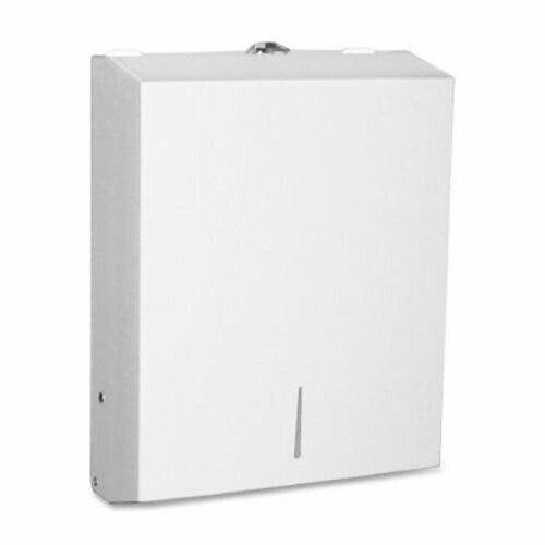 Genuine Joe C-Fold Towel Dispenser, White Stainless Steel (GJO02197)