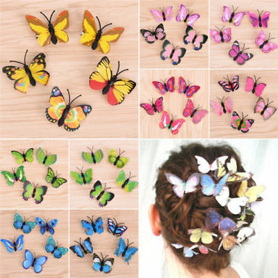 5Pcs Butterfly Hair Clips Bridal Accessories Wedding Cosplay Costume Supplies CA