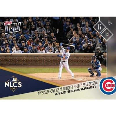 2017 Topps Now Kyle Schwarber 4Th Postseason Hr Wrigley Field Sets Record 778