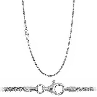 Solid .925 Sterling Silver 1.6mm Italian Popcorn Chain Necklace - All (Italian Popcorn Chain)