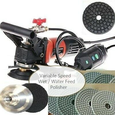 Variable Speed Stone Wet Polisher Grinder Polishing Kit Granite Concrete Marble
