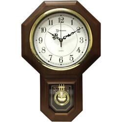 """Timekeeper 180WAGM 18.75"""" Pendulum Clock With Hourly Westminister Chime"""