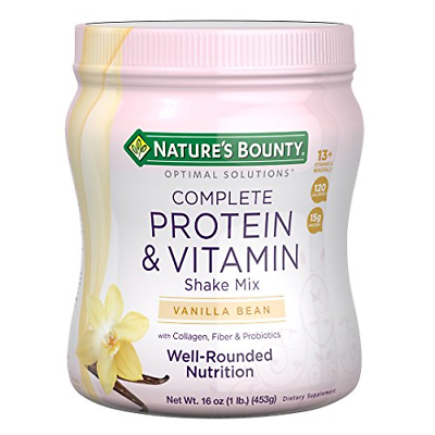 Natures Bounty Solutions Complete Protein Vitamin Shake, Mix
