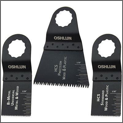 Oshlun Mms-9903 Oscillating Tool Blade Combo For Fein Supercut - 3 Pack