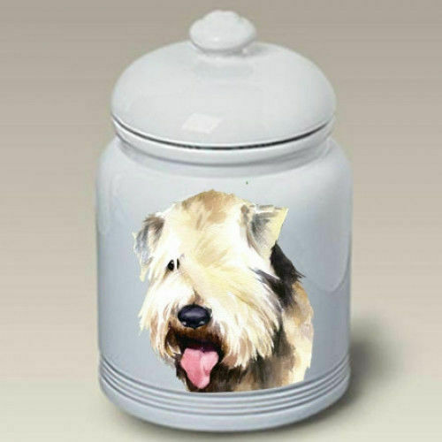 Wheaten Terrier Ceramic Treat Jar BVV 23056