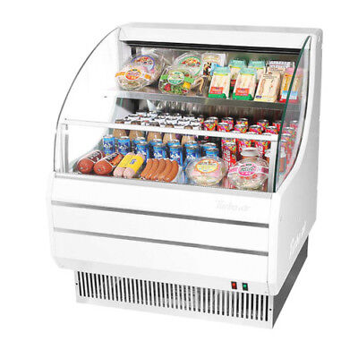 Turbo Air Tom-30lw-n Open Display Case Cooler Low Profile In White Tom-30l