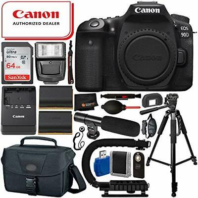 Canon EOS 90D DSLR Camera (Body Only) 64GB Tripod Bundle - AUTHORIZED DEALER