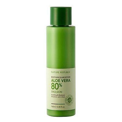 [Nature Republic] Soothing & Moisture ALOE VERA 80% Emulsion 160ml