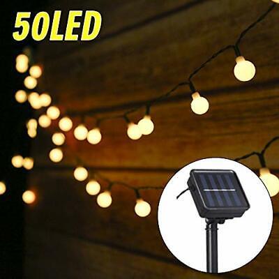 Guirnalda 50 Luces LED Solar 6.9m Decoración de Jardín