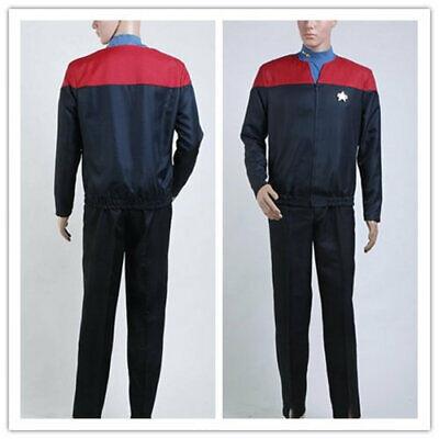 Star Trek  Voyage VOY  Rot Blau Uniform Cosplay Kostüm Karneval - Rot Voyager Star Trek Uniform Kostüm