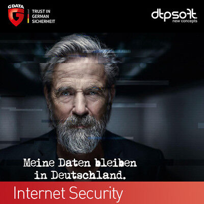 G DATA Internet Security 2 PC 2019 VOLLVERSION  Antivirus GDATA 2018 DE EU (1+1), gebraucht gebraucht kaufen  München