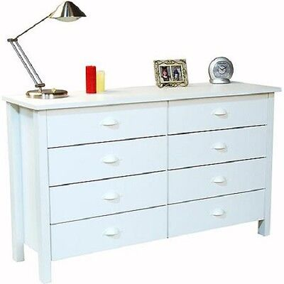 كومودينو جديد 8 Drawer Chests of Drawers Dresser Organizer Removable White Drawers Wooden NEW