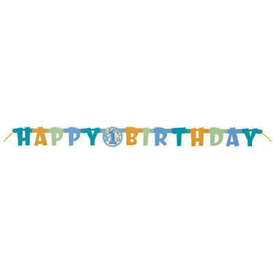 First Birthday Blue Jointed Banner](First Birthday)