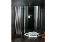 Atlas quadrant shower enclosure, tray and waste/plug 80x80cm