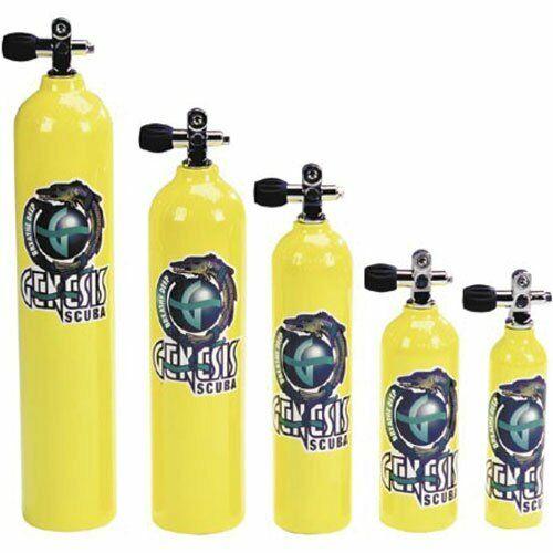 Aluminum Bottle Air Tank Yellow with Pro Valve for Scuba Diving (6 Cubic ft)