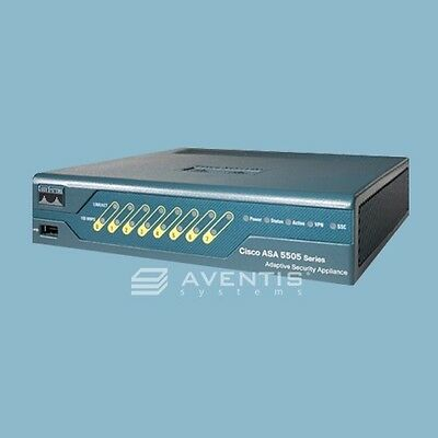 Brand Sealed Cisco Asa5505-bun-k9 Security Firewall 10-us...