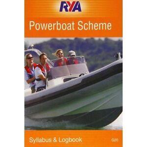 RYA Royal Yachting Association Power Boat Log Book SCHEME  G20
