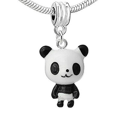Standing up Panda Bear Resin Charm Bead Compatible for Most European Snake Chain - Bear Standing Up