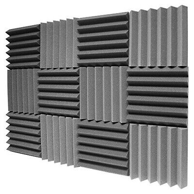 "12 Pack- Acoustic Panels Studio Foam Wedges 1"" X 12"" X 12"
