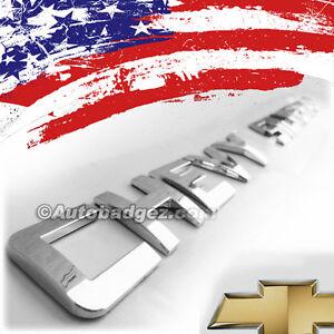 1 - NEW Chevrolet Chevy Silverado SS1500 2500HD Chrome Badge Emblem ITALICS