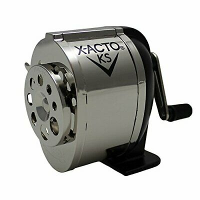 Wall Mount Manual Pencil Commercial Grade Pencil Sharpener Dual Helical Cutters