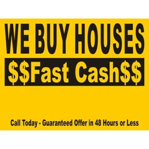 WE BUY PROPERTIES FOR CASH AND CLOSE IT QUICKLY.