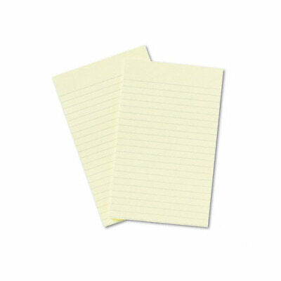 Post-it Notes Original Pad 5x8 Lined Canary Yellow 50 Sheets Per Pad Two Pads