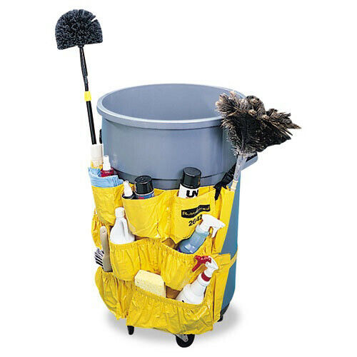 Rubbermaid Brute Caddy Bag w/ Adjustable Buckles & Strap (Yellow) 264200YW NEW