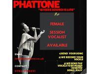 Female session singer for mobile recording