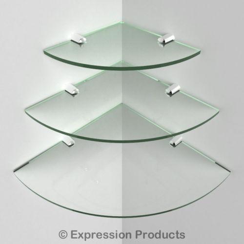 bathroom glass corner shelf ebay. Black Bedroom Furniture Sets. Home Design Ideas
