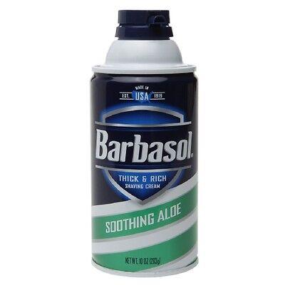 Barbasol Thick & Rich Shaving Cream, Soothing Aloe 10 Oz