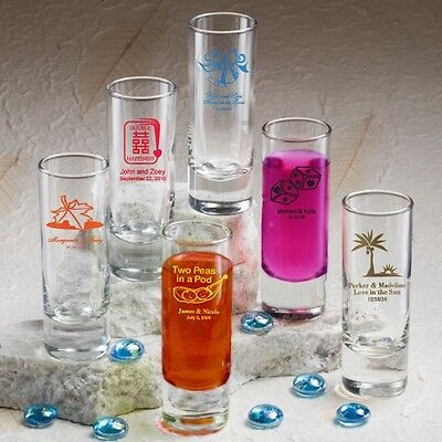 75 Personalized 2 oz Ounce Shooters Shot Glasses Wedding Party Shooter - Shot Glass Wedding Favors