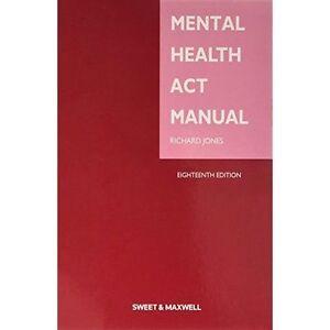 Mental Health Act Manual, Good Condition Book, Jones, Richard, ISBN 978041405109