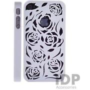 iPhone Case 4 White Flower