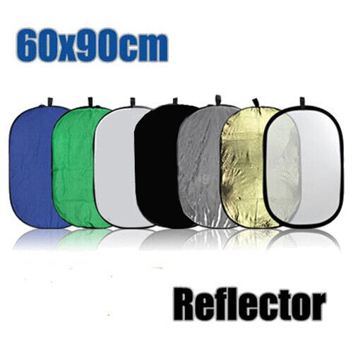 """24x36"""" 8-in-1 Collapsible Oval Reflector  for Photography Outdoor Lighting"""
