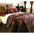 Log Cabin Twin Quilts