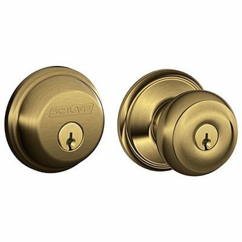 Schlage Lock Company FB50NVGEO609 Georgian Antique Brass Kno