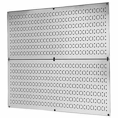 2 Metal Peg Board Organizer Rack Wall Control Garage Storage Galvanized Steel...