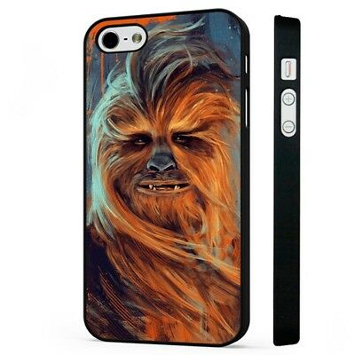 Chewbacca Amazing Star Wars Art BLACK PHONE CASE COVER fits iPHONE