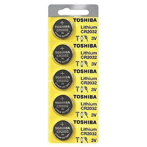 5 x New Original Toshiba CR2032 CR 2032 3V LITHIUM BATTERY BR2032 DL2032 Remote Consumer Electronics