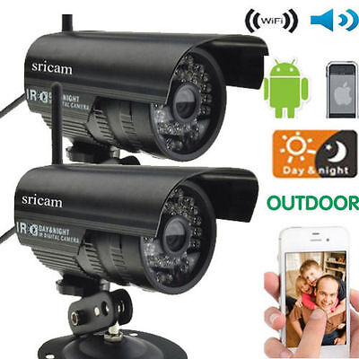 2 PCs IP Camera IOS Outdoor Waterproof Security System Wireless CCTV WIFI Night