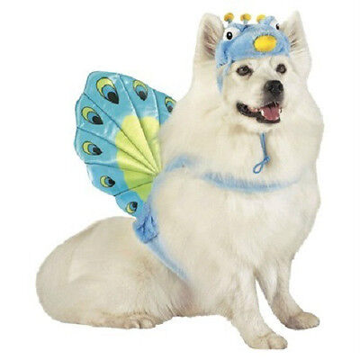 LARGE dog pet PEACOCK bird Halloween costume FREE - Boo Dog Halloween Costume