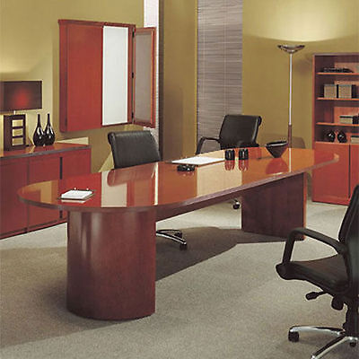 6ft - 12ft Racetrack Conference Table Office Meeting Room Hardwood 8 10 Foot New