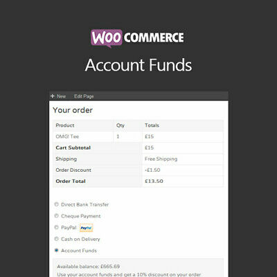 Woocommerce Account Funds - Gpl Wordpress Plugins And Themes