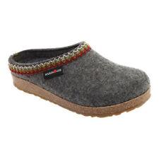 Haflinger Zig Zag Wool Felt Blue Clog | Lauries Shoes