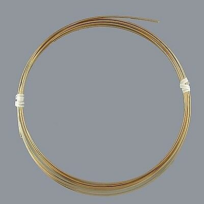 Artistic Wire Tarnish Resistant Brass 12 gauge 10 ft 41917 Round Shiny