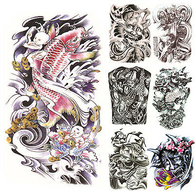 Large Sexy Tattoo Skull Temporary Body Arm Stickers Removable Waterproof Sticker on Rummage